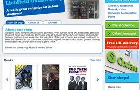 The Lichfield Oxfam shop's online sales page