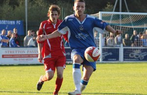 Chasetown's Linden Dovey gets away from his marker. Pic: Dave Birt