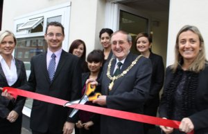 Dr Neville Brown opens the new Bell Cornwall Recruitment branch in Lichfield