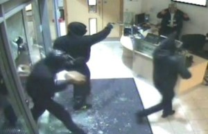 CCTV of the raiders entering the NextiraOne premises