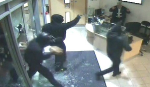 CCTV of the raiders entering the NextiraOne premises