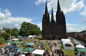 The Lichfield Festival market