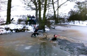 Athletes brave icy water in the Xtreme Challenge event