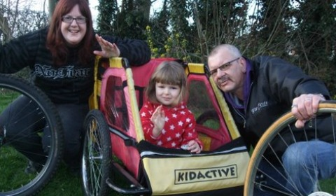 Hannah, Luchia and Anthony Cassidy get set to join the latest Cycle Rides for All route