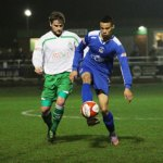Jordan Archer controls the ball. Pic: Dave Birt