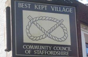 Staffordshire Best Kept Village sign