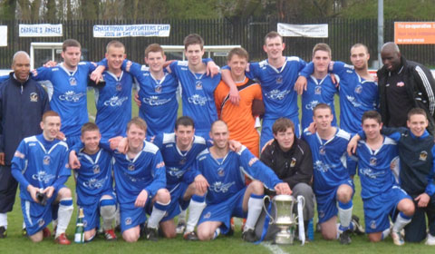 Chasetown FC Reserves with the league trophy. Pic: Jane Aiton