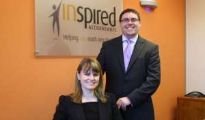 Kay Lewis with managing director Paul Bulzacchelli