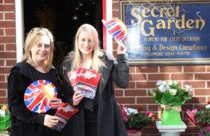 Sandra Shaw from Secret Garden with Lichfield District Council's Rhiannon Purkis