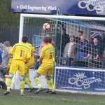 Scott Lycett finds the net to pull Chasetown level. Pic: Dave Birt