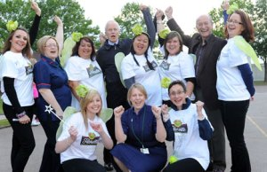 The Florette Solstice Walk team with organisers from St Giles Hospice