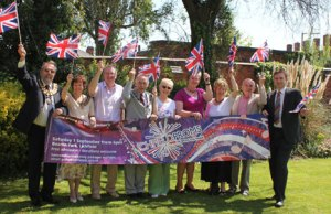 Some of the businesses and organisations backing the Lichfield Proms in Beacon Park event