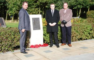 Torben, Joannes V Hansen and Ian Bourne at the National Memorial Arboretum