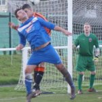 Action from Lichfield City v Bromsgrove Sporting