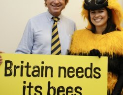 Michael Fabricant meets a Friends of the Earth bee