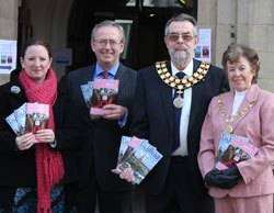 Alison Wallis, Stephen Thomas, Cllr Ken Humphreys and Maureen Humphreys at the launch of the new guides