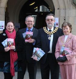 Alison Wallis, Stephen Thomas, Cllr Ken Humphreys and Maureen Humphreys at the launch of the new guides