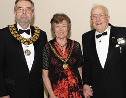 Cllr Ken Humphreys, Maureen Humphreys and Sir Bernard Knight