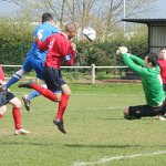 Action from Lichfield City v Castle Vale JKS