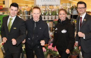 Andy Jones (Waitrose), Phil Clamp, Louise Sambrook (KP Events) and Dean Vaughn (Waitrose)