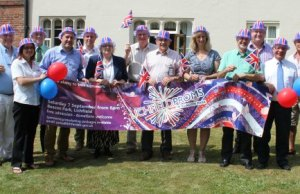 Some of the sponsors and supporters of the Lichfield Proms in Beacon Park 2013