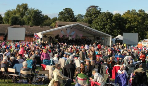 Crowds at the Lichfield Proms in Beacon Park. Pic: Lichfield District Council