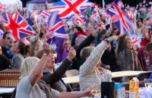Crowds enjoying the Lichfield Proms in Beacon Park