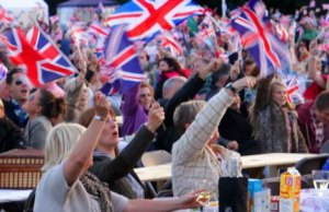 Crowds enjoying the Lichfield Proms in Beacon Park