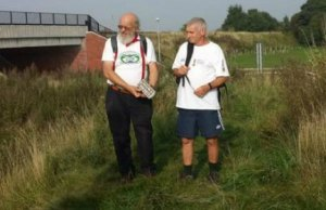 Peter Buck and Doug Hamilton-Cox on the Heritage Towpath Trail