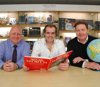 Export manager Kevin with CEO Simon Price and sales director Tony Melia