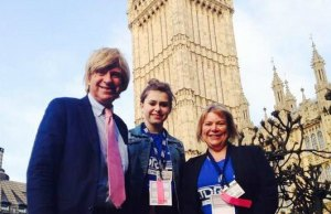 Michael Fabricant with Lucy Averis and her mum Maria