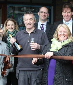 Traders cut the ribbon on the improved Ryecroft Shopping Centre