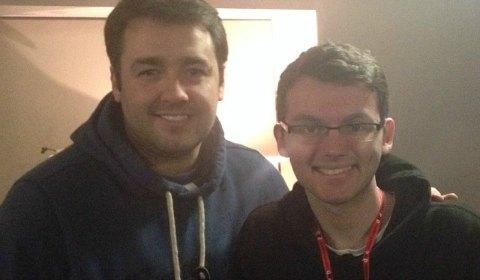 Jason Manford with Stephen Sutton