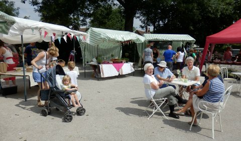 The food and craft market in Whittington