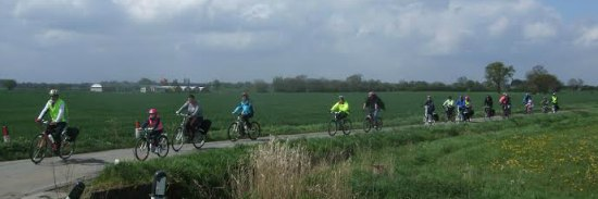 Cyclists heading for the National Memorial Arboretum