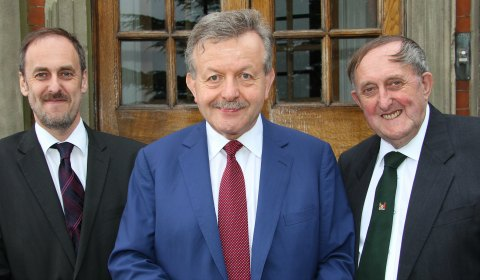 Dr Daryl Brown and Dr Neville Brown of Maple Hayes with Lord Lexden