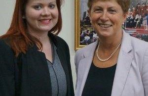 Emma Bottamley with Gisela Stuart MP