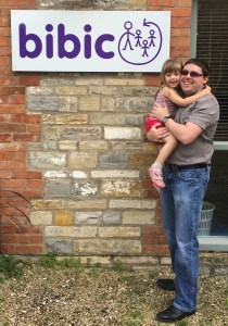 Paul Bulzacchelli with his daughter Isabel during a recent visit to bibic