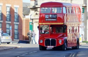A Routemaster operating on a previous route in Sutton Coldfield