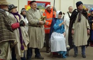 Members of the cast are pictured in rehearsal for last year's production of the Late Night Nativity