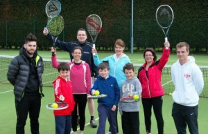 Coaches, parents and children get ready to make a racket and have a ball at the free tennis event
