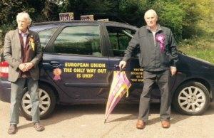 UKIP's Peter Cope and John Rackham. Pic: Lewis Deakin