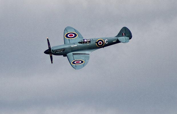 A spitfire flypast in Lichfield