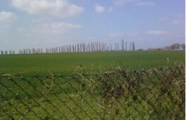 The site of the proposed housing development in Streethay