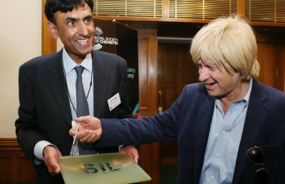 Michael Fabricant MP with Prof Jas Pal Badyal from the University of Durham