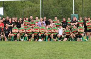 The teams line-up during the recent President's Day at Burntwood RUFC