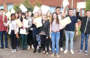 Students celebrating their GCSE results. Pic: The Friary School
