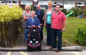 Cllr Heather Tranter, Janice Curbishley, Cllr Jeff Sheriff,Sarah Smart and Cllr Richard Mosson