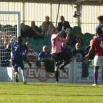 Ryan Wynter makes it 4-1 to Chasetown. Pic: Dave Birt