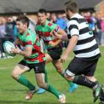 Ben Holt breaks away for Burntwood. Pic: Joanne Gough